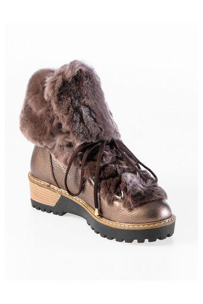 Fur Hiker Boots