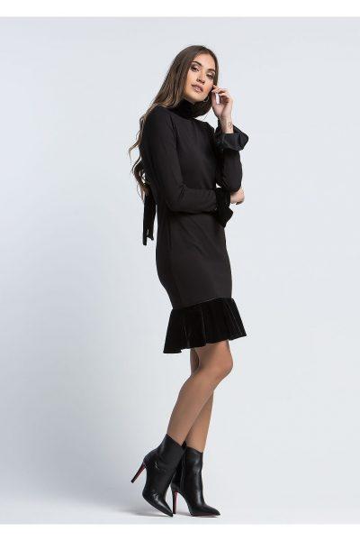 Velvet Tips Dress