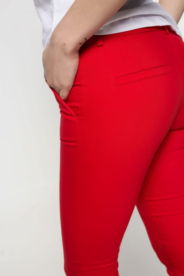 Red Cigarrete Pants