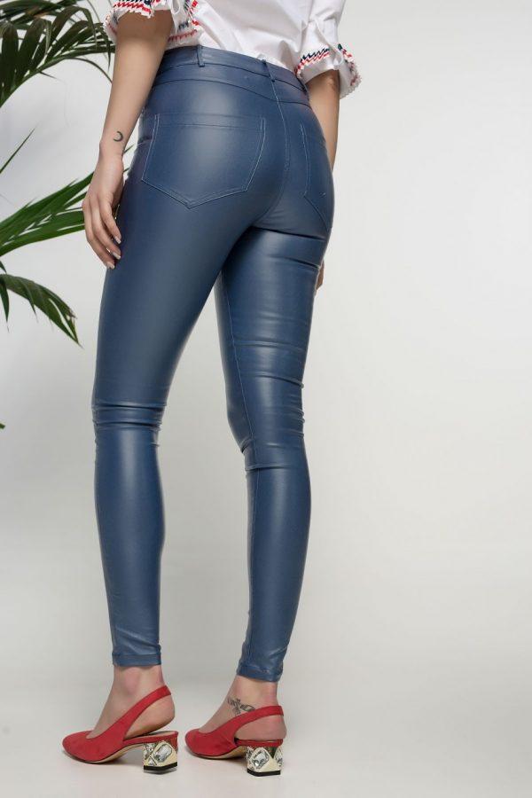 Blue Slim Fit Pants