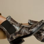 Snakeskin Chelsea Boots
