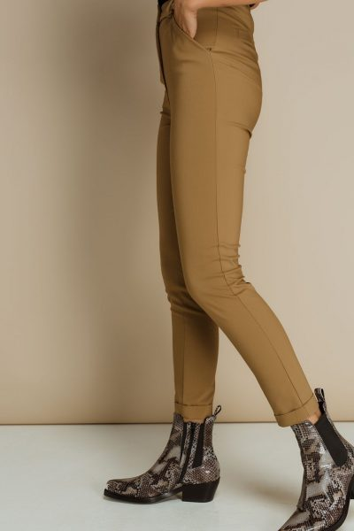 Beige highwaist cigarette Pants