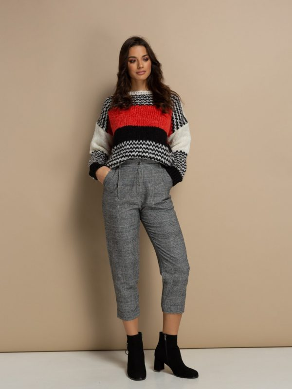 Plaid Cropped Pants