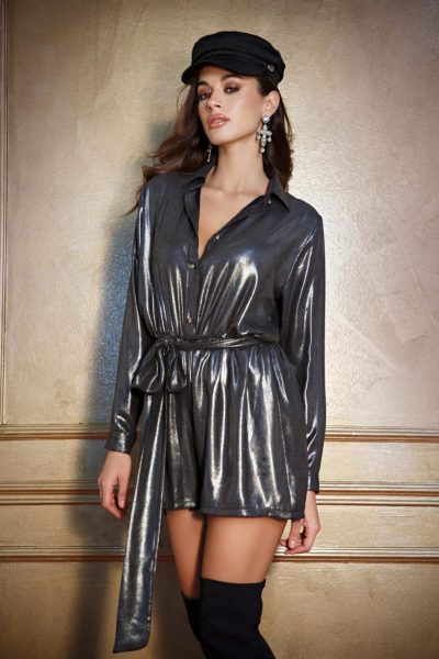 Metallic Grey Playsuit
