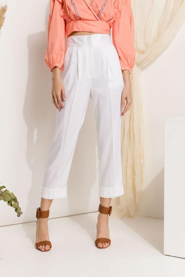 Cropped Linen Pants