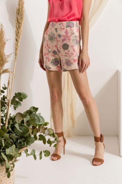 Embroidery Highwaist Shorts