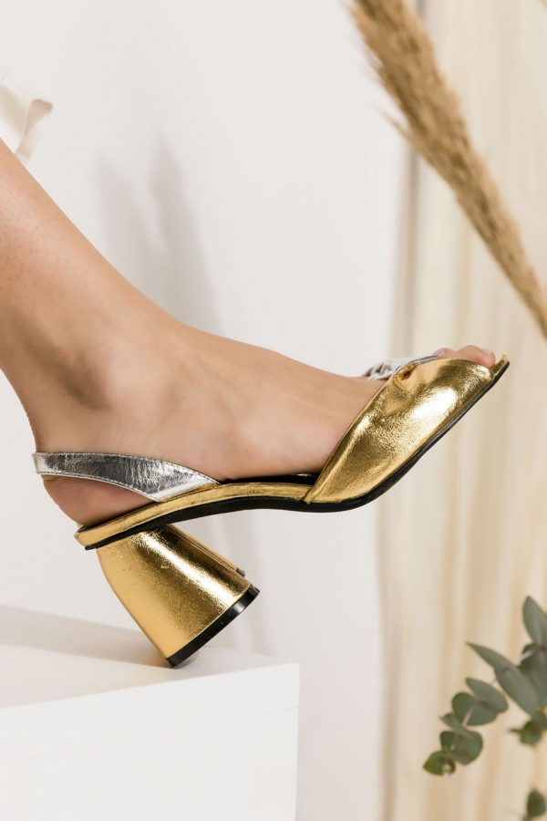 Silver Gold Pumps