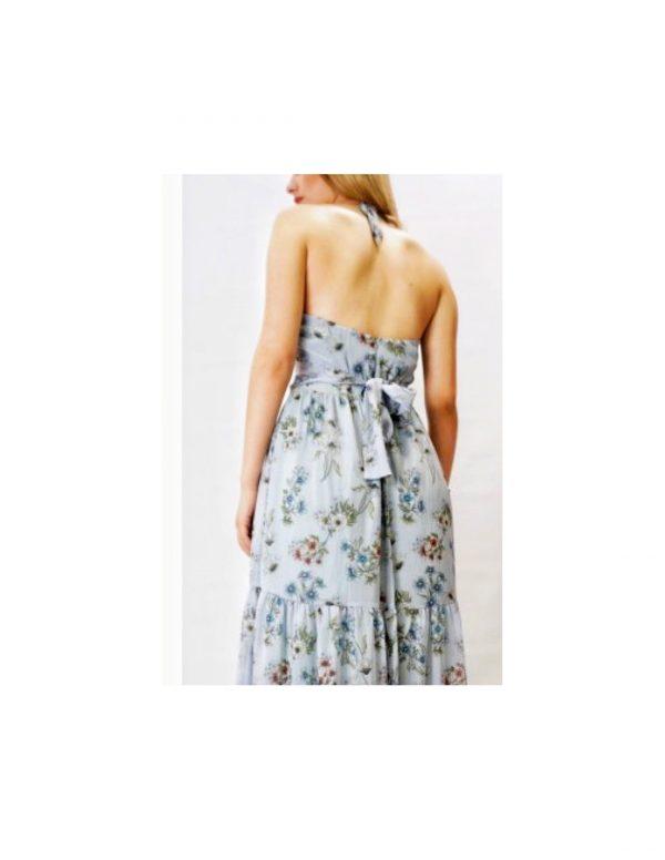 Halterneck Floral Maxi Dress