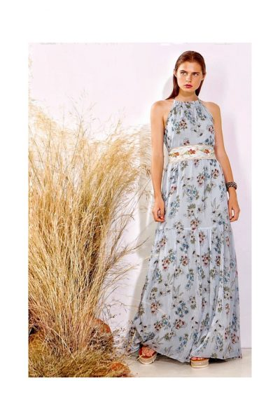 Halterneck Floral Maxi Dress