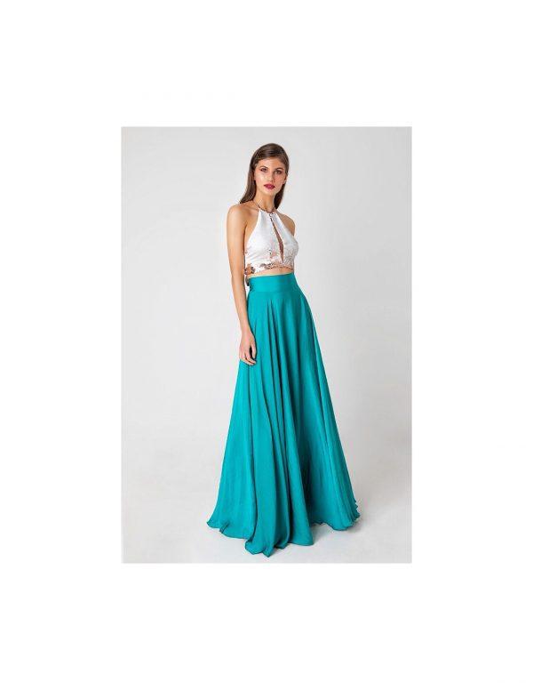 Lola Aqua Maxi Skirt