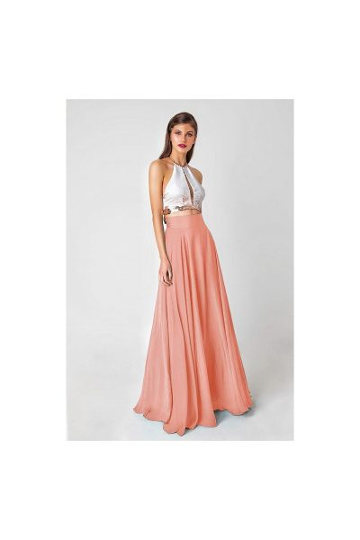 Lola Salmon Maxi Skirt