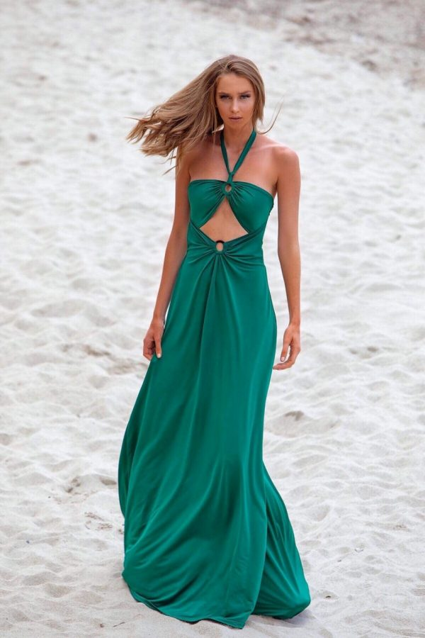 Selena Emerald Green Maxi Dress