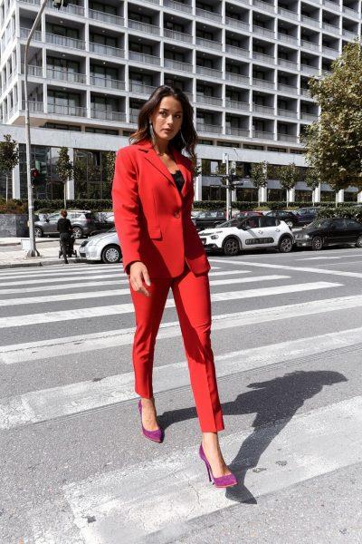 Red Cigarrete Pants