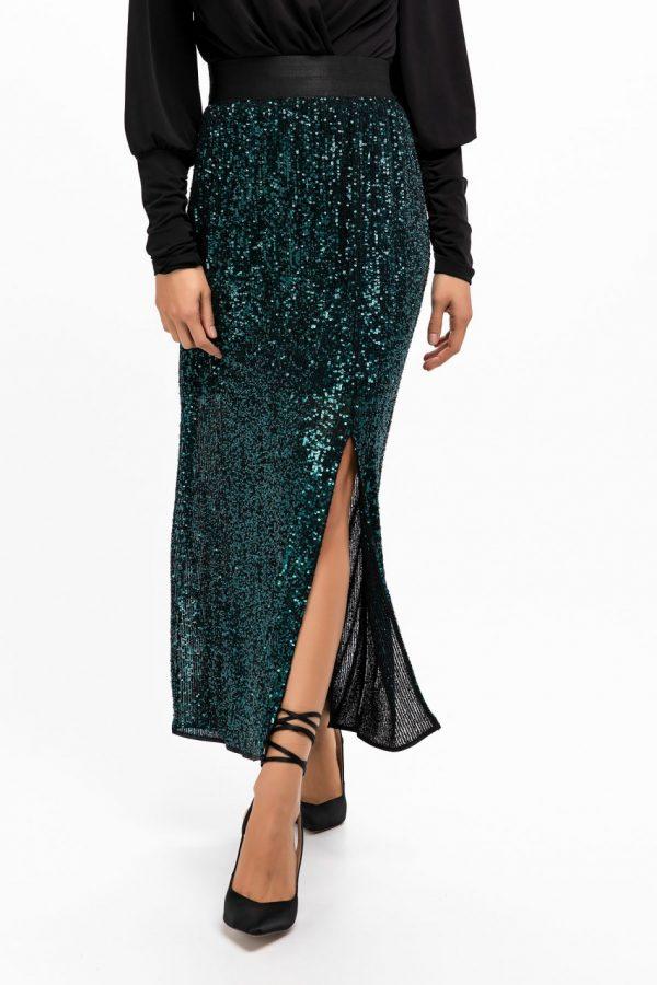 Sequin Midi Skirt