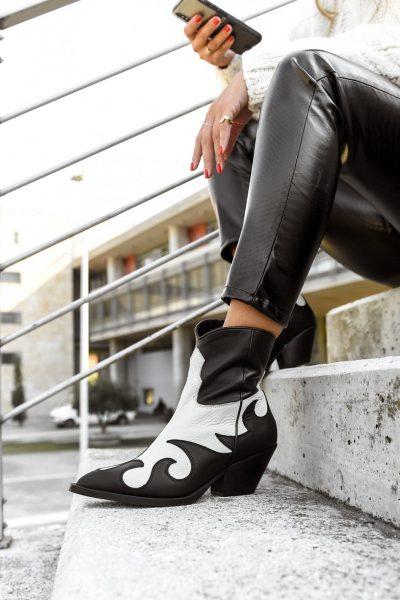 H12 Mas Off White Black Boots