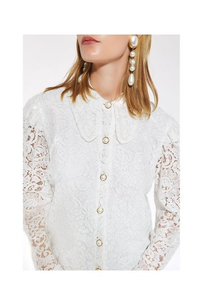String Of Pearls White Shirt