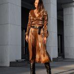 Bronze Midi Skirt