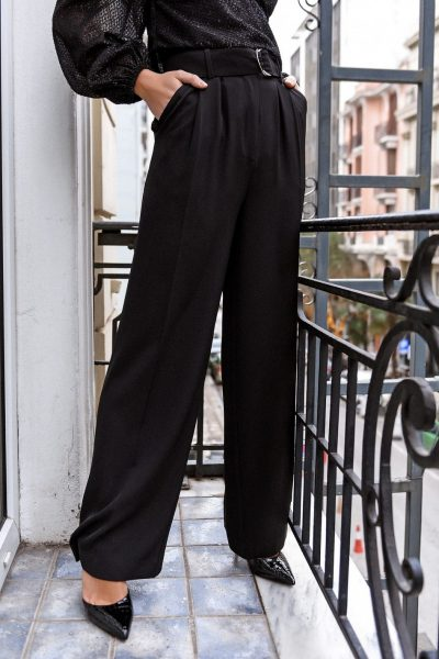 Highwaist Wide Leg Belted Pants