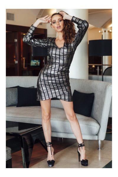 Metallic Mini Dress