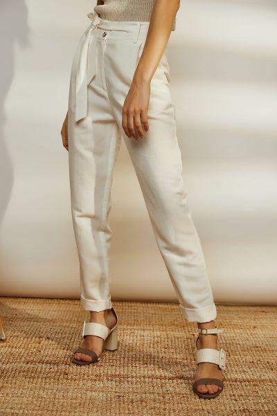 White Highwaist Linen Pants