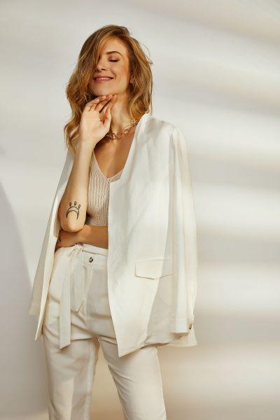 White linen Kimono