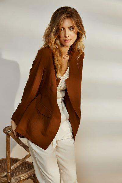 Brown Linen Kimono