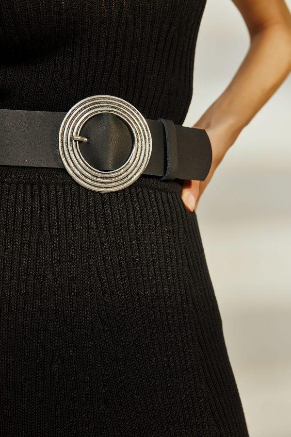 Clocks Leather Belt