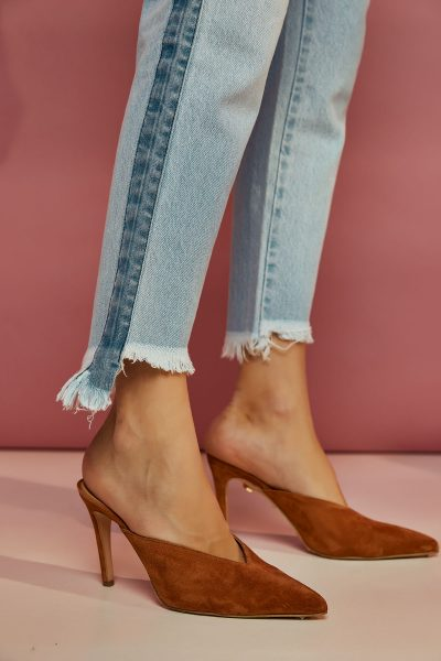 Taba Suede Mules