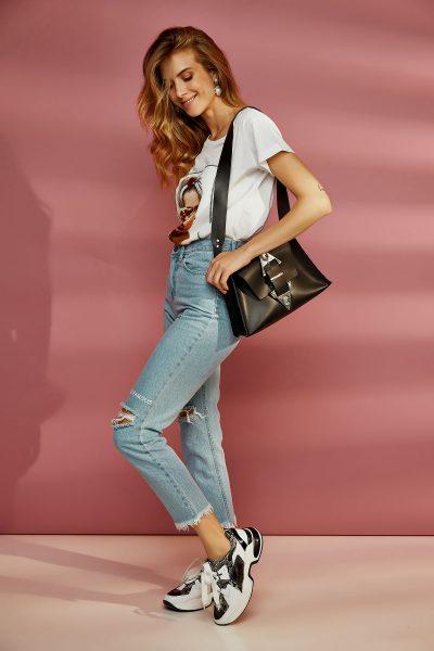 Dance Monkey Leather Bag