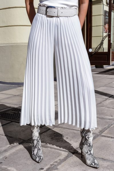 Wide Leg Pleated Cullotes