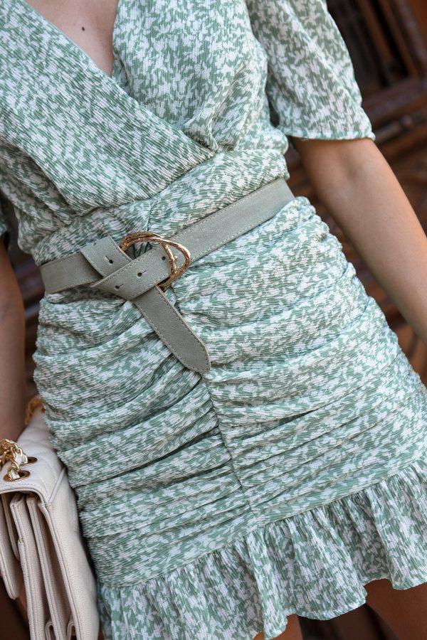 Mint Leather Belt