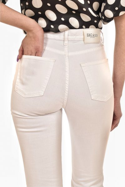 White Bell Denim Pants