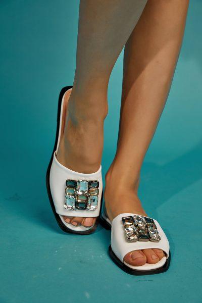 Valia Sandals – White