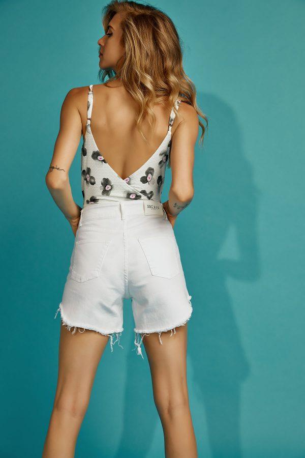 Olivia White Denim Shorts