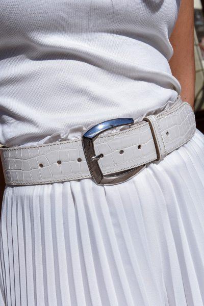 White Croc Belt