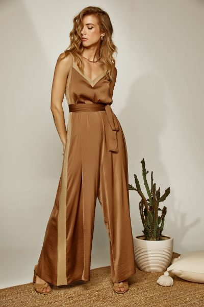 Gold Striped Jumpsuit – Ekai