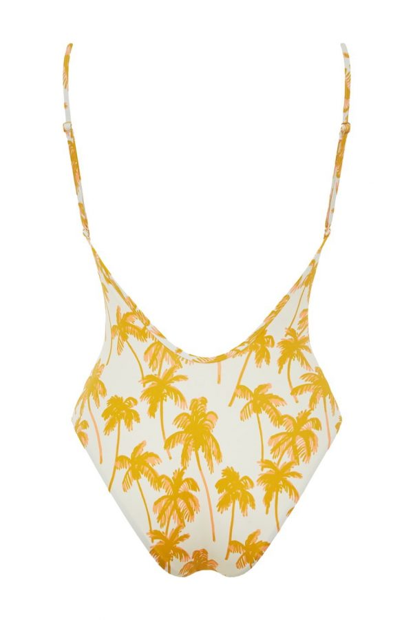 Palme D'or Spaghetti Strap One Piece
