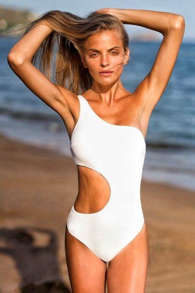 Crispy Cream One Shoulder – One Piece