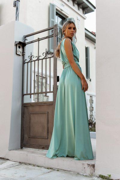 One Shoulder Maxi Dress – Mint