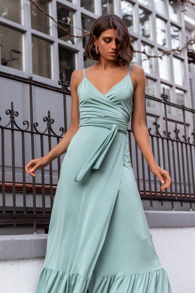 Wrap Maxi Dress – Mint