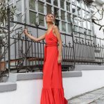 Wrap Maxi Dress – Red
