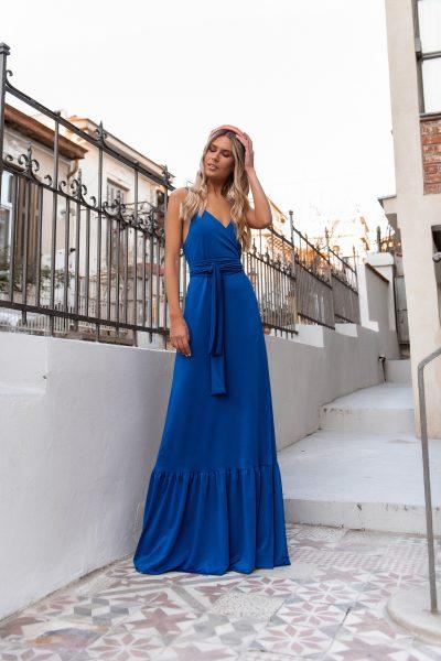 Wrap Maxi Dress – Royal Blue