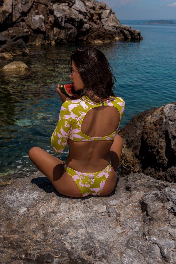 Cali Surf Bikini – Lime Plumeria