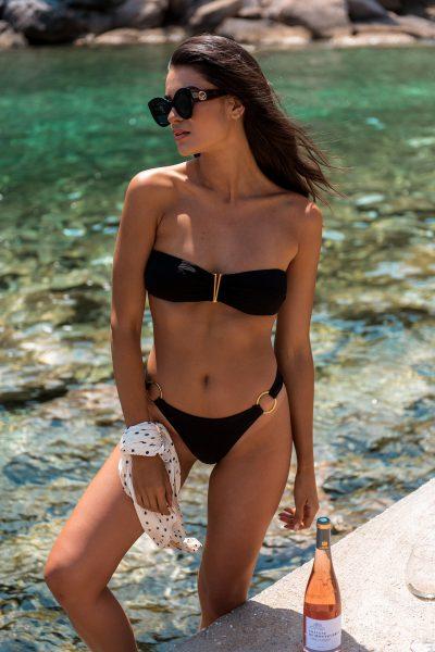 Venice Bikini – Black Pique