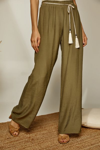 Daisy Loose Pants – Olive