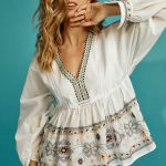 Embroidery Boho Top