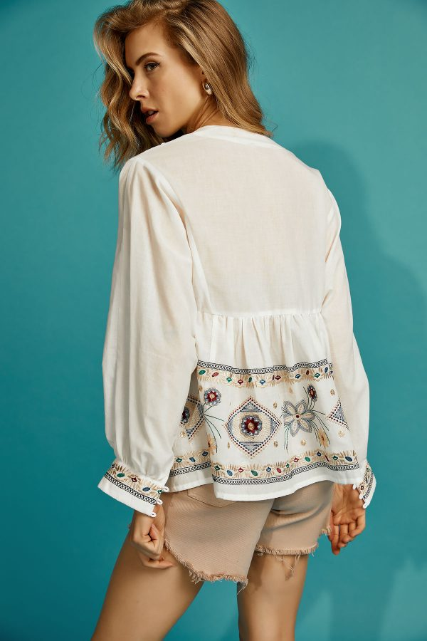 Embroidery Boho Top
