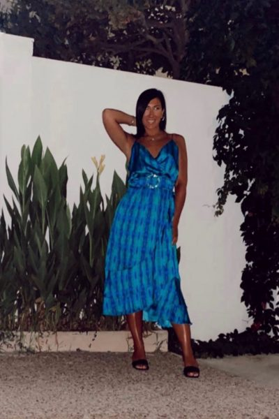 Soraya Coctail Wrap Dress – Blue