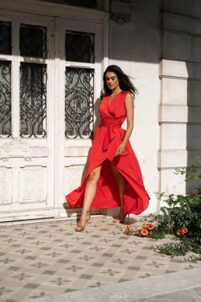 Ophelia Wrap Dress – Red