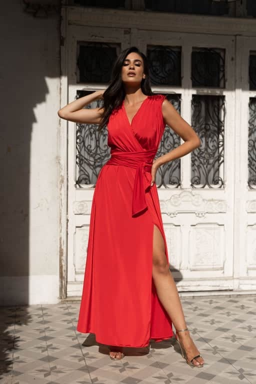 Ophelia Wrap Dress – Red